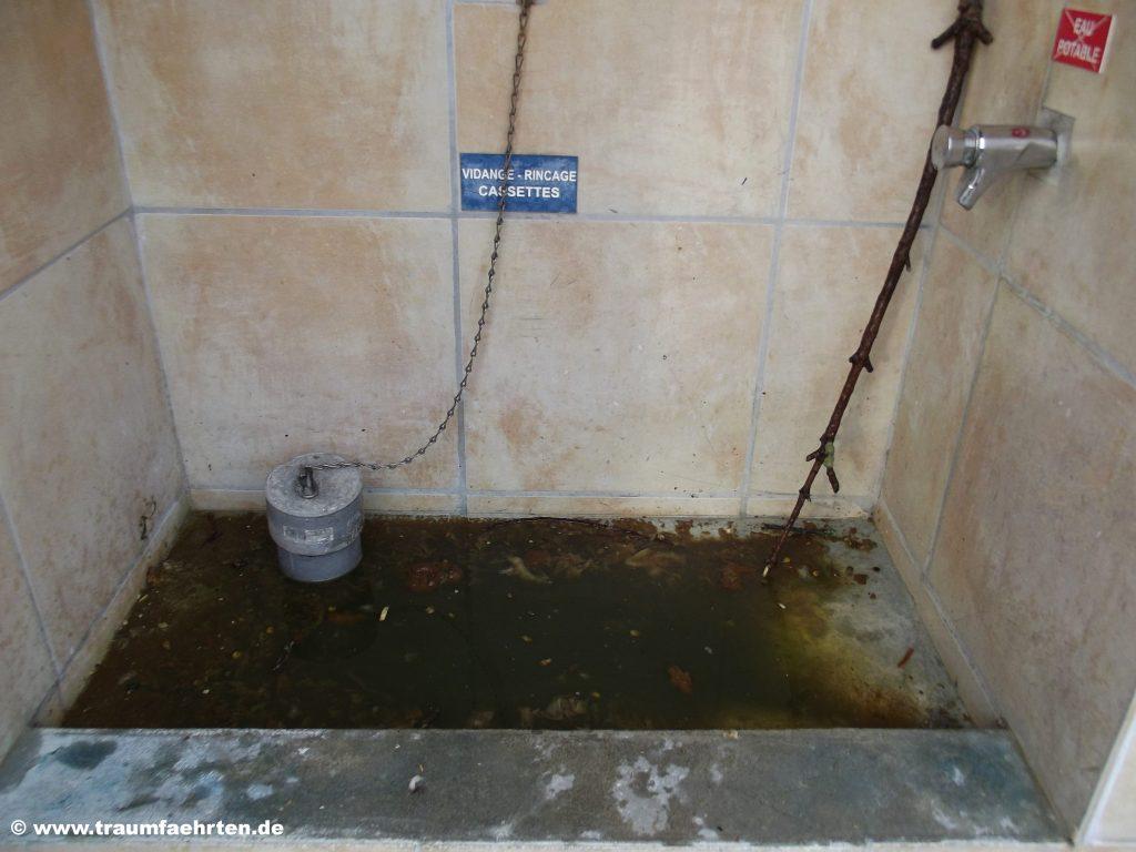 Entsorgungsstation Hygienrisiko
