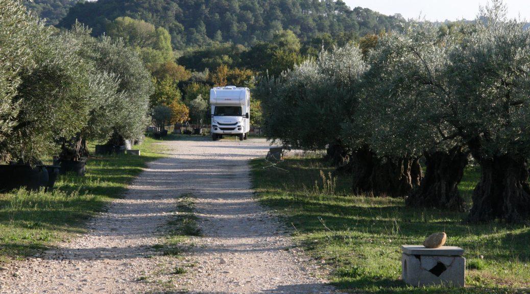 Mit dem Wohnmobil in der Drôme Provencale