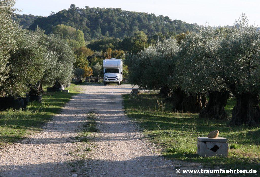 Wohnmobilstellplatz Olivenhain