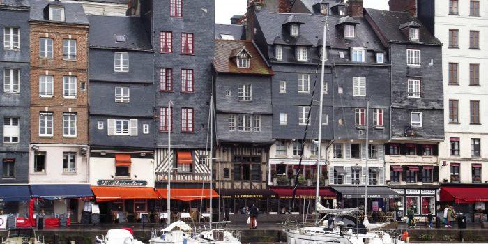 Hafen Vieux Bassin Honfleur Herbst