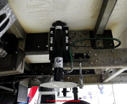 Einbau der hydraulischen Hubstützen