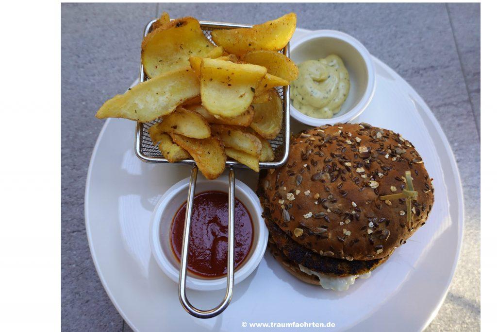 Veggie-Burger Wohnmobil-Dinner