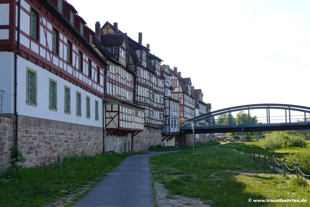Mittelalterliche Häuser an der Deutschen Fachwerkstraße