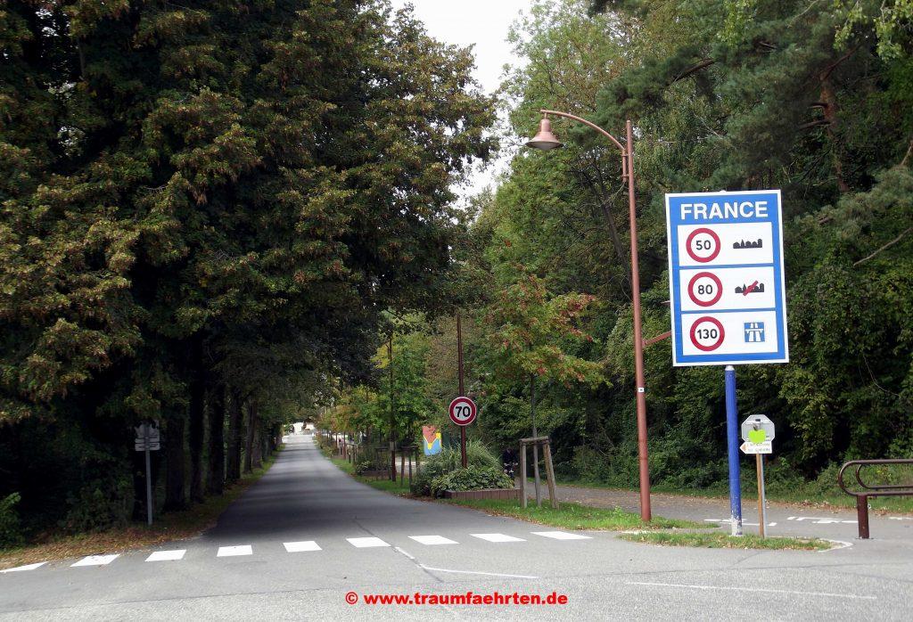 Frankreich Grenzübergang Drusenheim