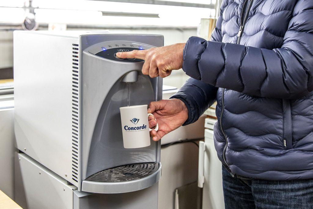 Concorde Reisemobile Wasserspender für Mitarbeiter