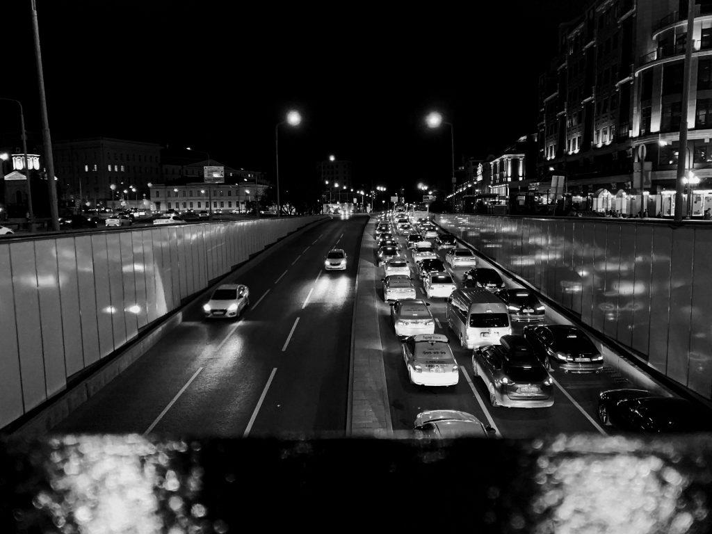Verkehrsstau Stadt